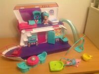 Vtech sandys house and yacht flip size set, with box, ideal for christmas
