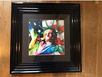 Framed print from Eyres. New York. Statue of Liberty. New.