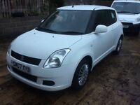 Suzuki swift 1.3 gl 3dr White 2007 07 low mileage