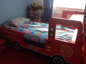 FIRE ENGINE FULL SIZE SINGLE BED