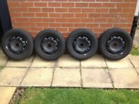 VW Polo rims with almost new tyres x4