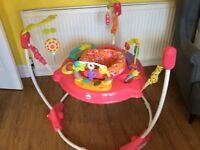 Jumperoo fisher price pink