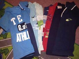 bundle ob boys t-shirts 3-4yrs