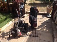 Golf clubs full set includes electric trolley and bag