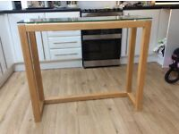 NEXT Opus Oak glass top table