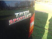 Vw transporter t5 factory sport line in black
