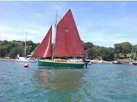 Memory 19 gaff rigged sailing boat