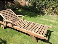 TEAK Garden Sunbed Sun lounger **Can Deliver**