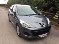 2011 PEUGEOT 207 1.4 HDI S 5 DOOR ONLY £20 PER YEAR ROAD TAX