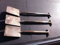 Vintage Wooden Garden Spade's / Shavel from around 1940's - Collectors item MAKE ME AN -O-F-F-E-R-