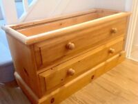 Solid pine chest of drawers for sale