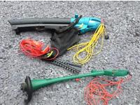 For sale. Electric garden tools.