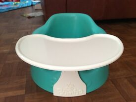 Bumbo seat and tray baby,green colour