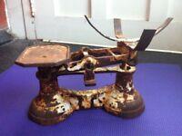 Antique Scales Rustic Farmhouse Collectible Kitchen Decor