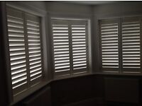 3 Pairs of wooden window shutters