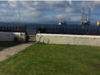 Seafront ground floor apartment for rent in Cromarty