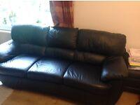 3 SEater Leather Sofa and Corner Unit £50
