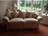 USED QUALITY TETRAD 2 AND 3 SEATER SOFAS WITH SCATTER CUSHIONS