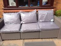 Set of cushions for 3 seater sofa