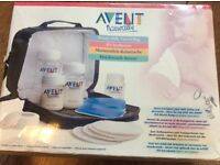 Brand new avent naturally breast milk travel bag