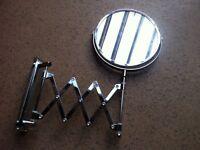 Brand New in Box Vintage Style Extendable Make-up Shaving Gentleman Bathroom Mirror