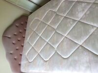 Double bed with headboard