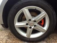 Seat Leon altea 16 inch alloys excellent condition 5x112 excellent tyres 205-55-16