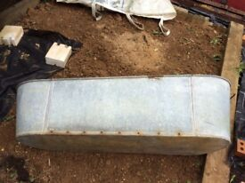 Large vintage galvanised bath ideal for use as a garden planter 120cm length