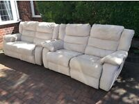 2 x 2 sofas with 4 electric recliners, can deliver