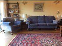 Sofa and armchair, elegant highest quality.