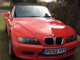 Brilliant Red BMW Z3 Convertible