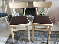 2 x 1950's/60's pretty little Kitchen Chairs