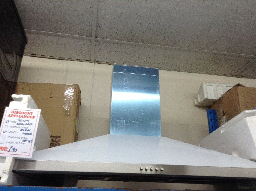 90cm stainless steel cooker hood. RRP £169 price
