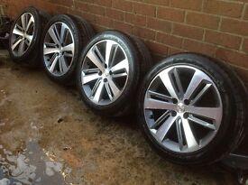 "Peugeot Citroen 18"" 4x108 icauna alloys with Michelin tyres"