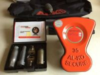 ALKO Al-Ko Caravan Wheel Lock Kit No 35. Superb Condition