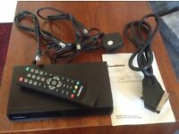 Goodmans GD11FVZS2 digital freeview box, fully working, with remote, cables + instruction manual