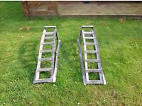 2 Ton. Car ramps, ideal for getting under your car.