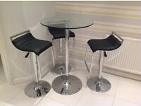 Bar table and 3 stools