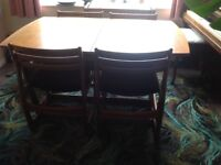 Solid wood dinning table and chairs