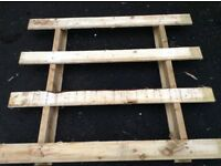 Pallets ideal for border fencing ,