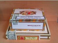 2 Empty Cigar Boxes for Guitars Ukeleles Trinket Boxes