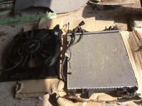Jaguar electric cooling fan and radiator
