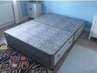 Double bed divan base with 4 drawers
