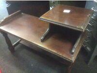 Vintage oak telephone table
