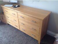 Oak drawers lounge or bedroom vgc very heavy