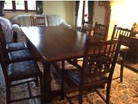 Dinning table & 8 chair ( includes 2 carver chairs)