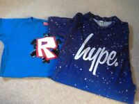 Hype and Roblox t-shirts