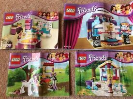 LEGO Friends x4:- Rehearsal Stage, Design Studio, New born horse+lamb, 41004, 41029, 41003, 3936