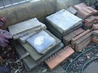 Free stone slabs and bricks