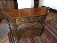 Old Charm Hall Console Table. Medium Oak